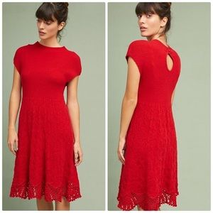 Dresses & Skirts - Feather Bone Anthropologie Red Sweater Dress